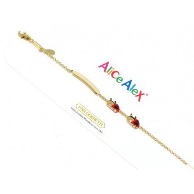 Alice e Alex bracciale bimbo in oro AA6