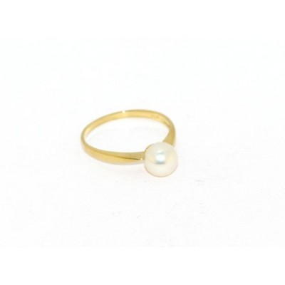 Anello perla in oro giallo AA26