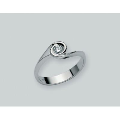 Miluna anello solitario oro 18 carati LID1344-D7