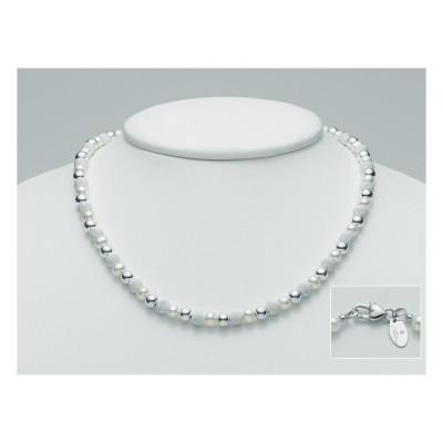 Miluna collana perle e argento pcl3159