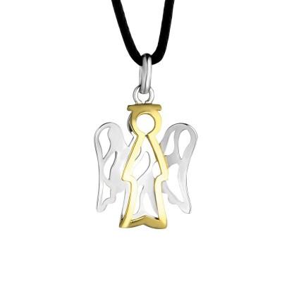 Giannotti ciondolo angelo in oro bianco e giallo nkt169