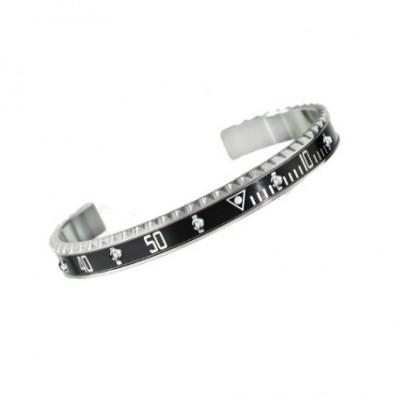 Speedometer official bracciale steel nero con diamanti