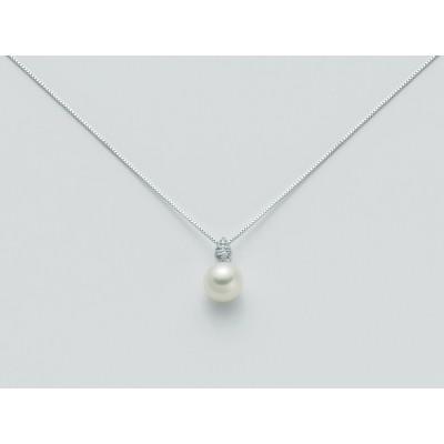 Collana miluna con perla e diamanti pcl2529