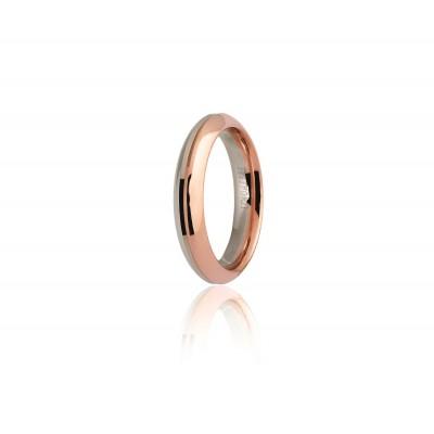 Fede eterna unoaerre 9.0 oro rosa e bianco.