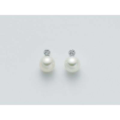 Miluna orecchini PER1346 perle e diamanti.