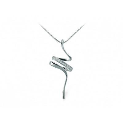 Collana Miluna CLD3863 in oro bianco e diamanti