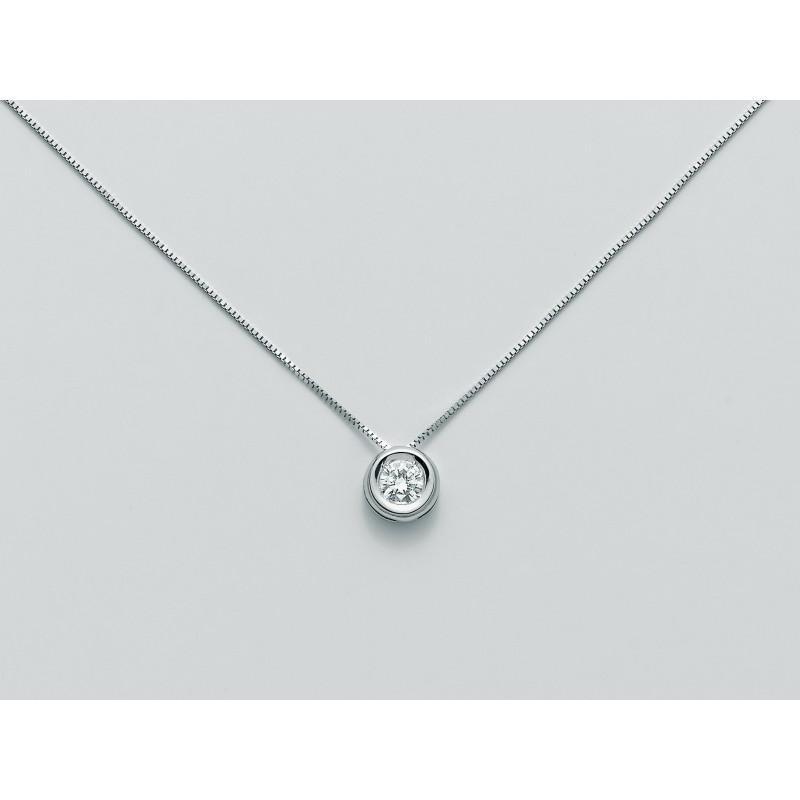 comprare popolare 0f788 830b9 Miluna collana punto luce in oro con diamante CLD3924_007S