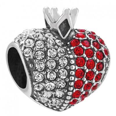 """Chamilia bead queens heart """"cuore di regina"""" 2025-1796"""