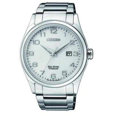 Orologio citizen BM7360-82A super titanium uomo quadrante bianco