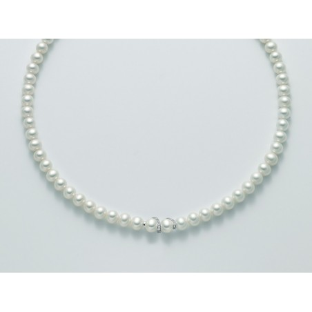 Miluna collana perle e diamanti PCL5155