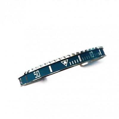 Speedometer Official bracciale steel vintage ghiera blu opaca