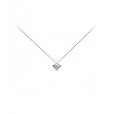 Miluna Collana Punto Luce CLD2937-004S in oro bianco con diamante