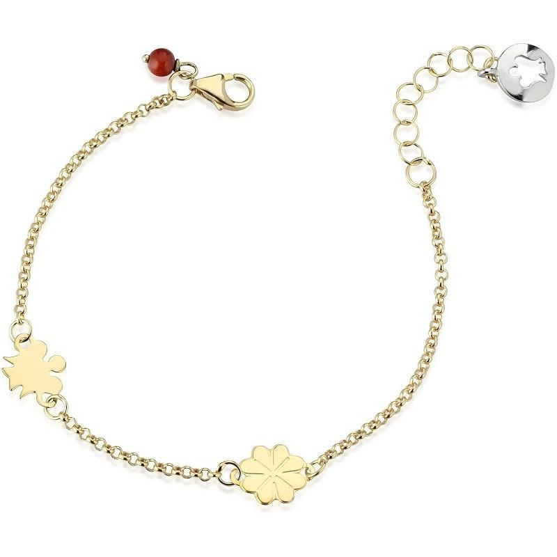 bracciale neonato oro con nome