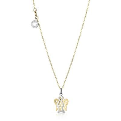 Collana in oro bianco da bimbo bimba con angelo custode Roberto Giannotti NKT253
