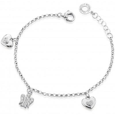Roberto Giannotti GIA333B bracciale in argento con cuori e angelo