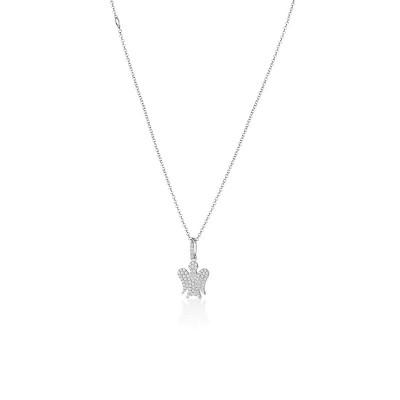 Collana in argento con ciondolo angelo con zirconi Roberto Giannotti GIA285