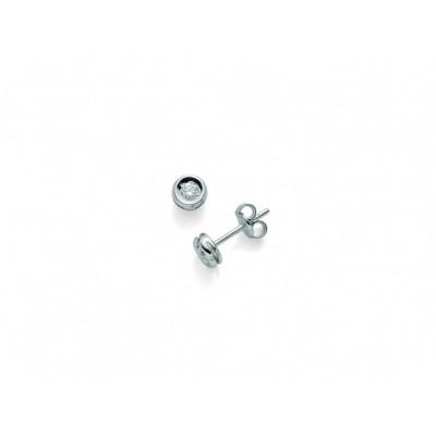 Miluna ERD 2268-008G7 orecchini con diamante in oro bianco 18KT. punto luce