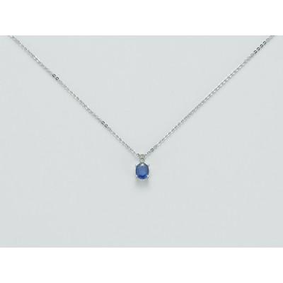 Miluna CLD3705X collana in oro bianco e zaffiro blu le gemme preziose