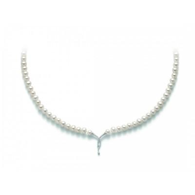 Collana di perle Miluna PCL5228 con centrale in oro bianco e diamanti