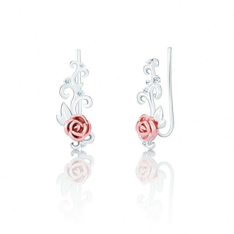 Chamilia orecchini Disney la bella e la bestia rosa 1311-0137
