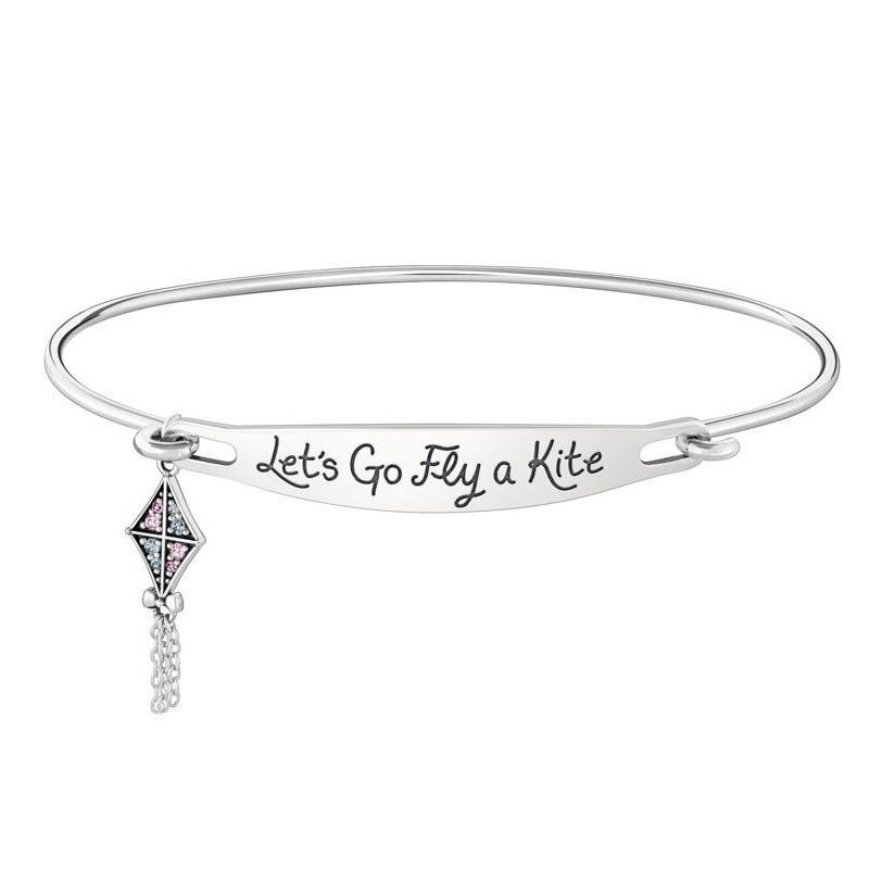 Chamilia Mary Poppins 1010-0446 bracciale con zirconi  scritta Let's go fly a kite
