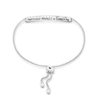 Chamilia Mary Poppins 1010-0444 bracciale scritta Practically perfect in every way