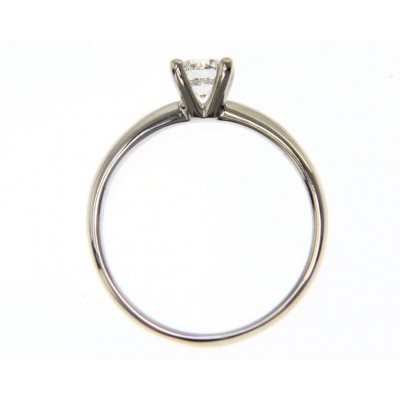 Solitario in Oro Bianco 18 Kt con Diamante 0,30 Ct