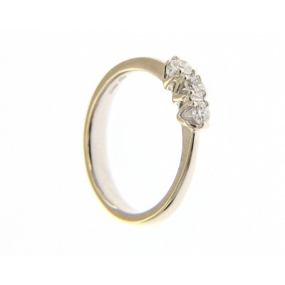 Trilogy in Oro Bianco 18 Kt con Diamante 0,30 Ct