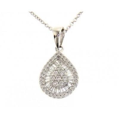 Girocollo in Oro Bianco 18 Kt con Diamanti 0,66 Ct