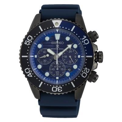 Orologio cronografo Seiko SSC701P1 edizione speciale save the ocean nero