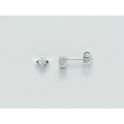 Miluna Orecchini in Oro Bianco 9 Kt con Diamanti 10 Punti ERD1590-010G7X