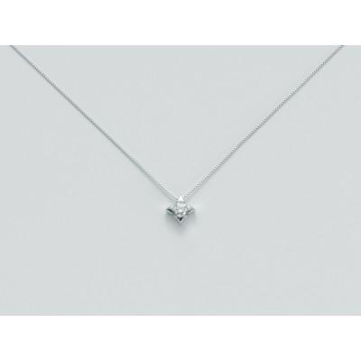 Miluna Collana in Oro Bianco 9 Kt con Diamante 8 Punti CLD2937-008G7X