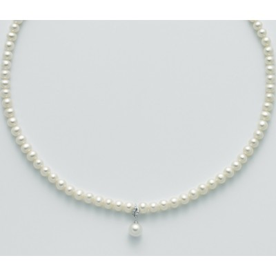 Miluna Collana di Perle e Diamanti PCL5527