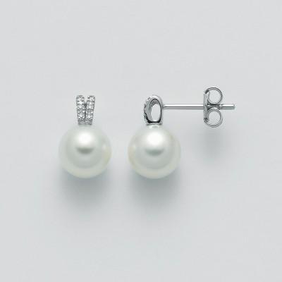 Miluna Orecchini di Perle con Diamanti Oro Bianco PER2312