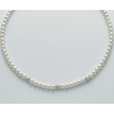 Miluna Girocollo Perle e Boule Diamantate PCL4982B