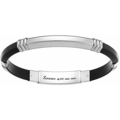 Zancan Bracciale Argento e Silicone Nero ESB003B-N