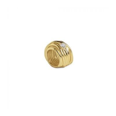 FiloDellaVita Anello Mini Oro Giallo e Diamante AN1005GBT