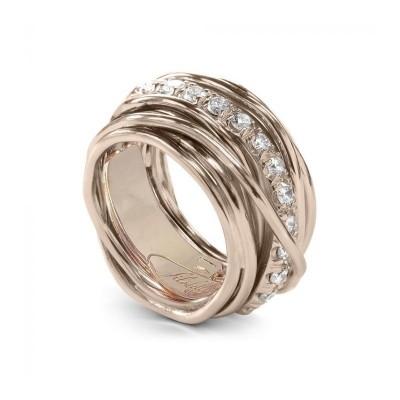 FiloDellaVita Anello Carato Oro Rosa e Diamanti AN001RBT