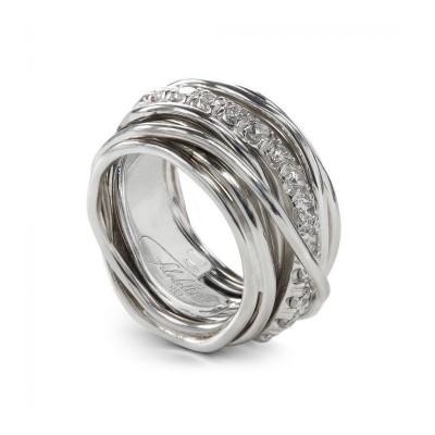 FiloDellaVita Anello Carato Argento e Diamanti AN001ABT