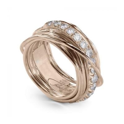 FiloDellaVita Anello Prezioso Oro Rosa e Diamanti AN113RBT