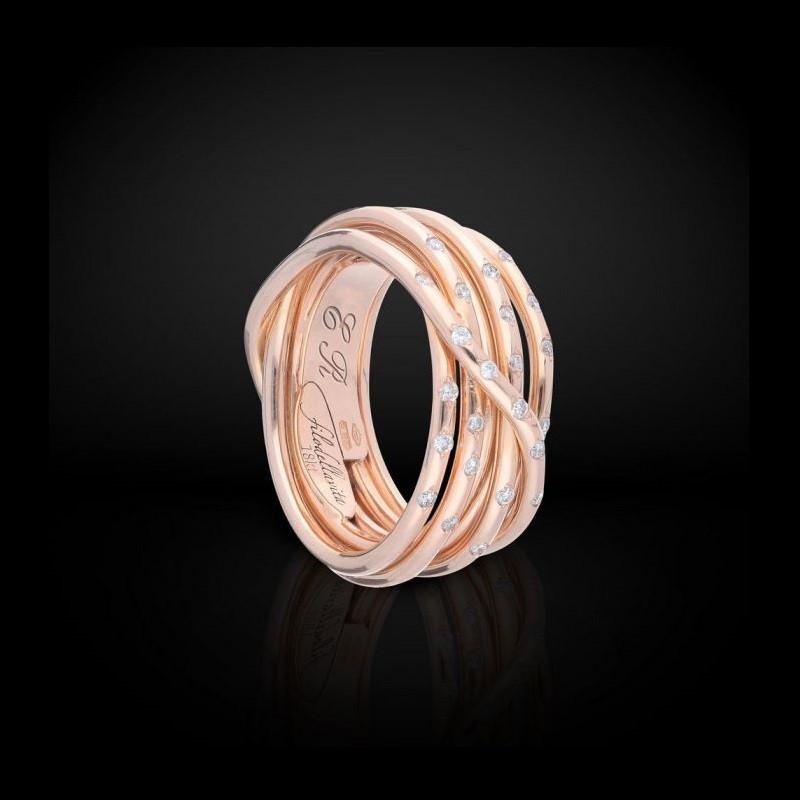 FiloDellaVita Anello Leda Oro Rosa e Diamanti AN101RBT
