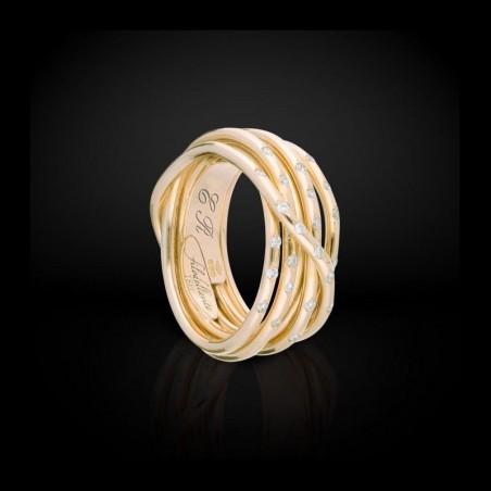 FiloDellaVita Anello Leda Oro Giallo e Diamanti AN101GBT