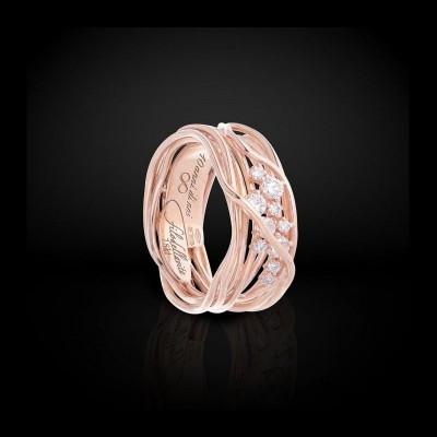 FiloDellaVita Anello Ten Oro Rosa e Diamanti AN100RBT