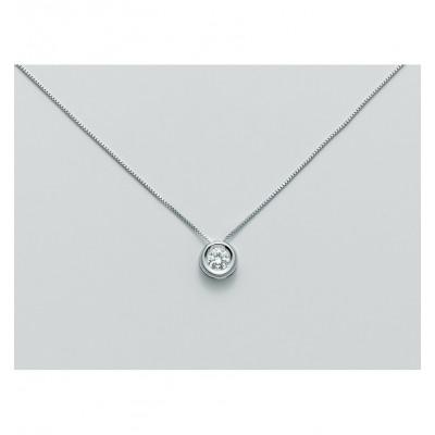Miluna Girocollo Punto Luce CLD3924-012G7 Oro Bianco e Diamante