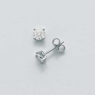 Miluna Orecchini Oro Bianco e Diamante ERD2319