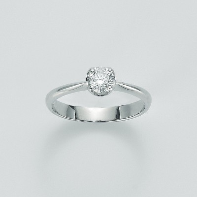 Miluna Anello Solitario Oro Bianco con Diamante LID5183-030G7