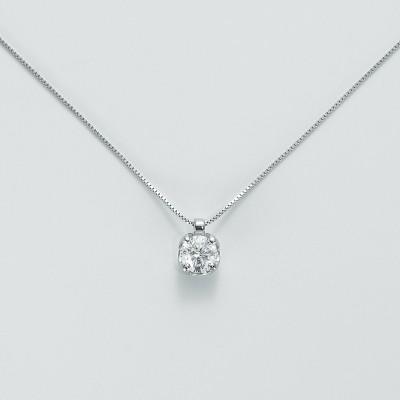 Miluna Girocollo Punto Luce Oro Bianco e Diamante CLD5068-030G7