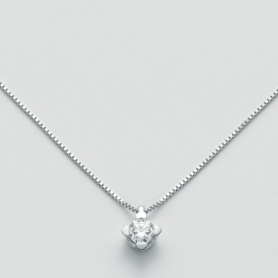 Miluna Girocollo Punto Luce Oro Bianco e Diamante CLD4125-030G7