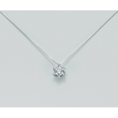 Miluna Girocollo Punto Luce Oro Bianco e Diamanti CLD5067-008S