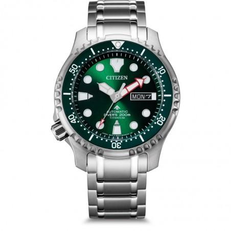 Orologio Citizen NY0100-50X promaster diver automatico titanio verde